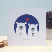 Bears In Love Personalised Valentine's Day Card, Wedding, Anniversary Card, Romantic Personalised Keepsake Card